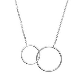 Collier double rond fin argent 925