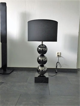 Malta tafellamp Black Chrome