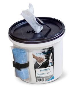 Waschtücher mit Aktiv-Sauerstoff