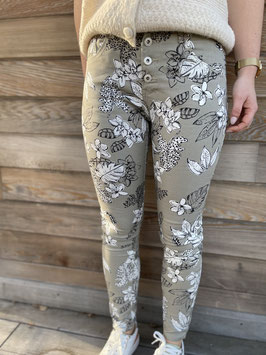Nouveau - Jeans Fleurs