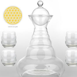 Carafe Vital Water Alladin + 4 verres Mythos or 24 carats -- 1300 ml