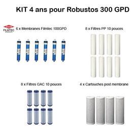 Kit d'entretien 4 ans pour Robustos 300 GPD