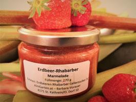 270g Erdbeer-Rhabarbermarmelade