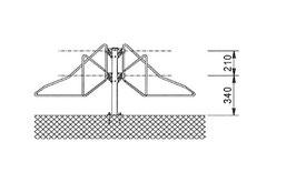 Fahrradhalter Mod F1213 beidseitig zum anschrauben Bodenmontage