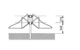 Fahrradhalter Modell F1213 beidseitig zum einbetonieren Bodenmontage