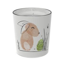 """Osterkerzen Glas Rita - """"die Zufriedene"""""""