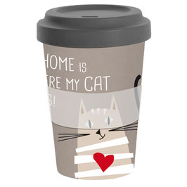 Home Cat - Travel Mug Bamboo
