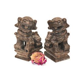chinesisches Fu Hunde Paar klein natur