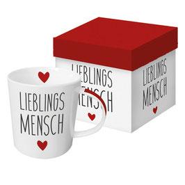 """Trend Mug und Geschenkebox """"Lieblingsmensch"""""""