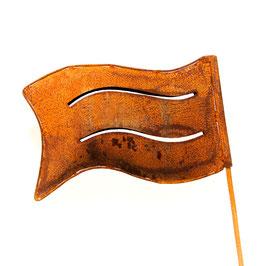Eisenrost Fahne groß