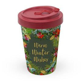 """Winter Wishes"" - Bamboo Travel Mug"