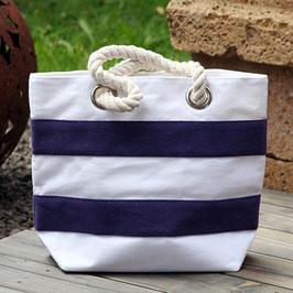 Strandtasche mit Segeltau Henkel