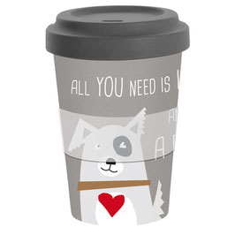 Love and Dog - Travel Mug Bamboo