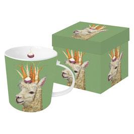 "Trend Mug ""Garden Alpaca"", große Porzellantasse"