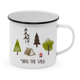"Happy Metal Mug ""Into the wild"""