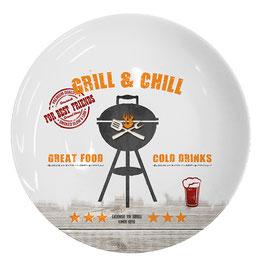 """Dinner Plate / Essteller """"Grill & Chill"""""""