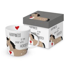 """Trend Mug und Geschenkebox """"Happiness & Horses"""""""