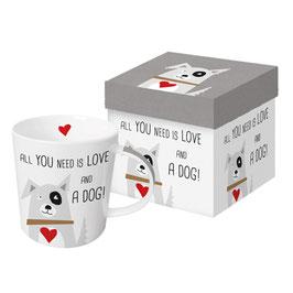 """Trend Mug und Geschenkebox """"Love and Dog"""""""