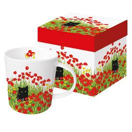 """Trend Mug und Geschenkebox """"Black Cat Poppies"""""""