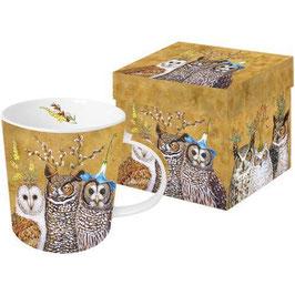 """Trend Mug """"Owl Family"""", große Porzellantasse"""