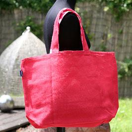 Strandtasche aus Jute rot