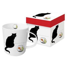 """Trend Mug und Geschenkebox """"Black Cat Goldfish"""""""