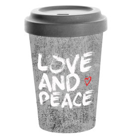 Love & Peace - Travel Mug Bamboo