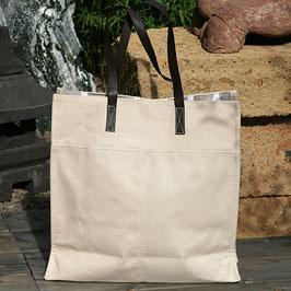 Einkaufstasche aus Baumwolle - beige