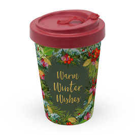 Winter Wishes - Travel Mug Bamboo