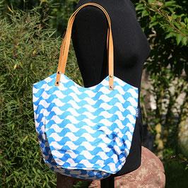 Einkaufstasche - Shopper Wave aus Baumwolle in 2 Farben