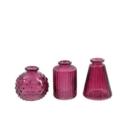 Mini Vasen Set -Farbe Beere - 3 Stück - von Miljögarden