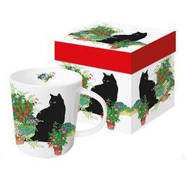 """Trend Mug und Geschenkebox """"Black Cat Flower Pots"""""""
