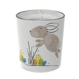 """Osterkerzen Glas Rita - """"der Glückliche"""""""