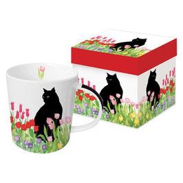 """Trend Mug und Geschenkebox """"Black Cat Tulips"""""""
