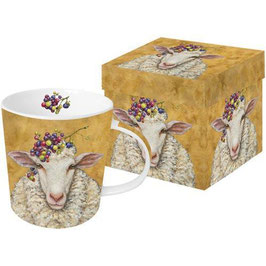 "Trend Mug ""Vineyard Sheep"", große Porzellantasse"