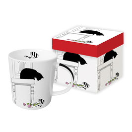 """Trend Mug und Geschenkebox """"Black Cat Vase"""""""