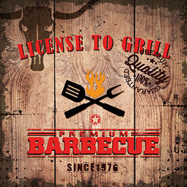 "Serviettenset ""License to Grill"""