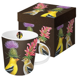 "Trend Mug ""Goldfinch Couple"", große Porzellantasse"