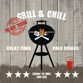 "Serviettenset ""Grill & Chill"" Wood"