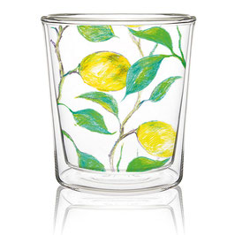 Beautiful Lemons - Double wall Trend Glas von PPD