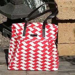 Einkaufstasche Wave - Shopper aus Baumwolle - rot
