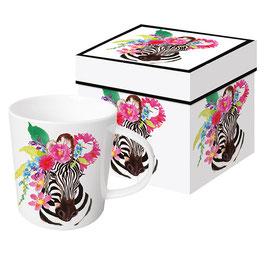 """Trend Mug und Geschenkebox """"Flora Zebra"""""""