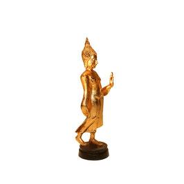 Kleiner schreitender Buddha im Sukhothai Stil