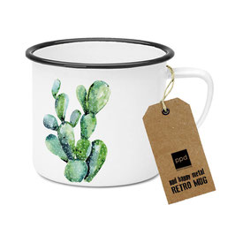 "Happy Metal Mug ""Cactus"""