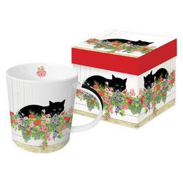 """Trend Mug und Geschenkebox """"Black Cat Flower Box"""""""
