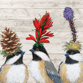 "Serviettenset ""The Chickadee Sisters"", große Papierservietten"