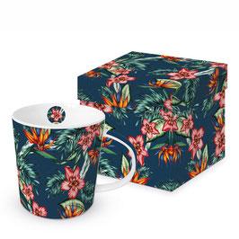 """Trend Mug und Geschenkebox """"Tropical Flowers"""""""