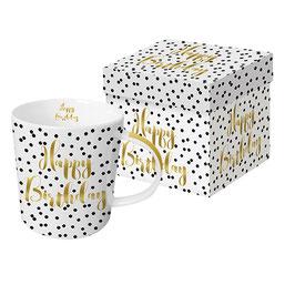 """Trend Mug und Geschenkebox """"Happy Birthday"""""""