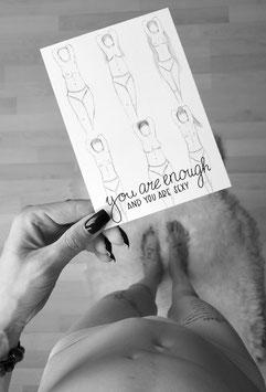you are enough Postkarte