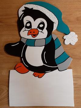 Nr.54 Kleiner Pinguin petrol/grau
